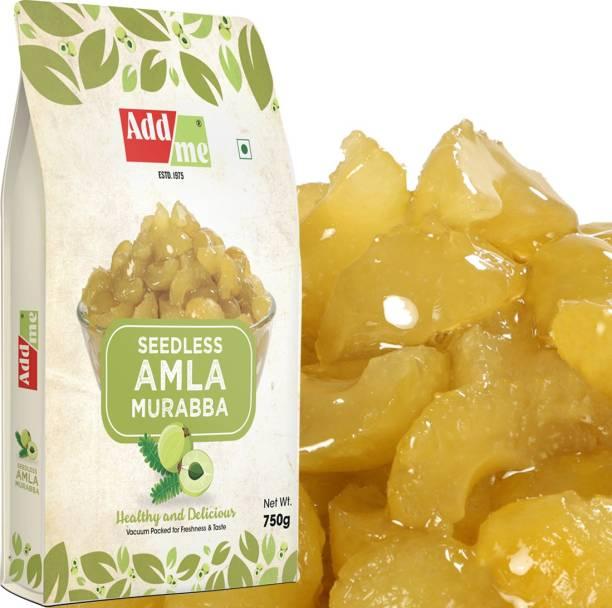 ADD ME Seedless Amla Murabba Sweet Amala 750 gm Amala Pack of 1 Best Quality Amla Murabba