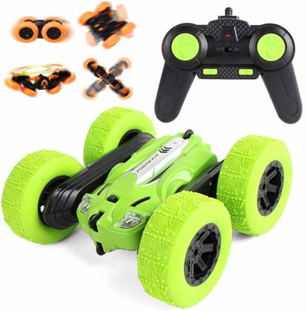 Royaldeals RC Stunt Car - 2.4Ghz Double Sided 360° Spin & Flip with LED Lights Remote Control Racing Truck 4WD for Kids
