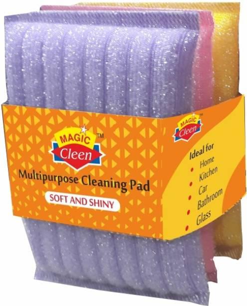 Magic Cleen Scourer Pad (3 Pack of 9 Pcs) Scrub Pad