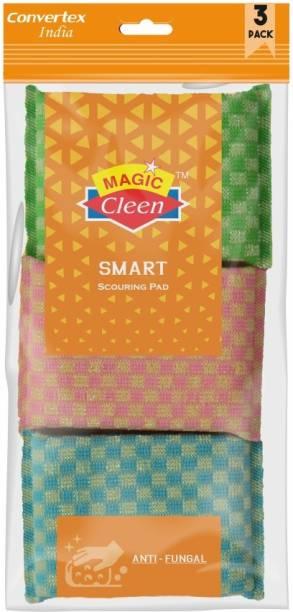 Magic Cleen Smart Scourer Pad (1 Pack of 3Pcs) Scrub Sponge