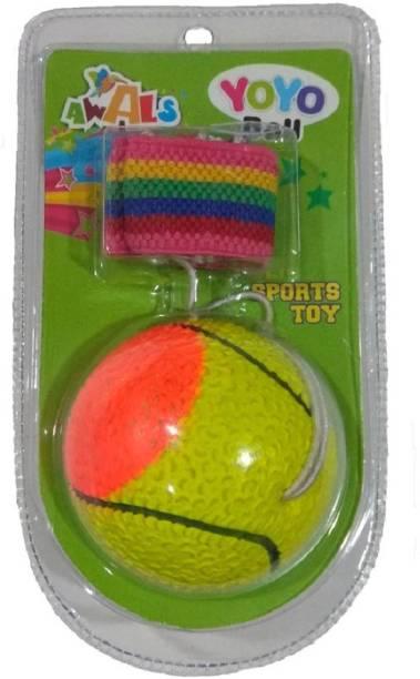 BKDT Marketing YoYo Ball Wrist Stringed Rubber Ball -Through - Bounce