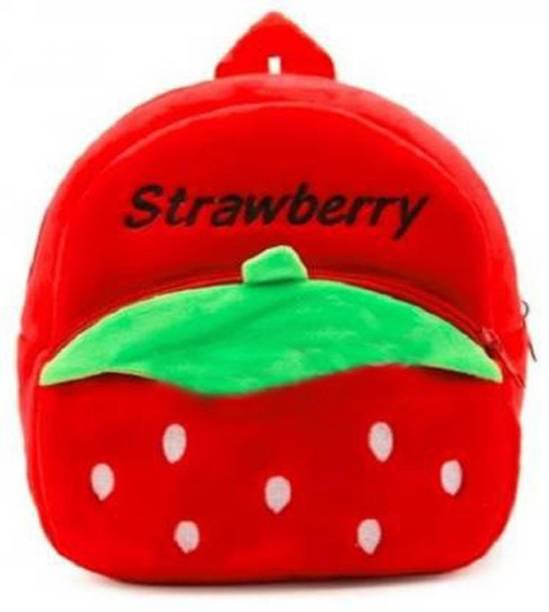 HappyChild Strawberry Premium Quality Soft Children, Kids, Baby, Velvet special_bag girls  - 14 cm