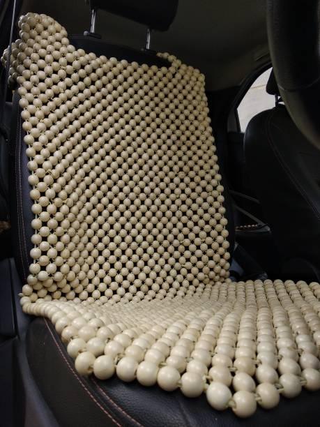 Q1 Beads Wooden Bead Seating Pad For  Mahindra, Suzuki, Hyundai, Maruti Suzuki, Toyota, Jeep, Isuzu, Land Rover, Skoda, Honda, Volvo, GM, Chevrolet, Porsche, Mercedes Benz, GS, Fiat, Force, Nissan, Renault, Mini, BMW, Tata, Audi, Mitsubishi, Ford, Universal For Car Universal For Car, Thar