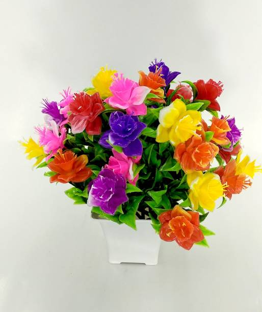 RESILIENCE Flower for Party Decorartion Bonsai Wild Artificial Plant  with Pot