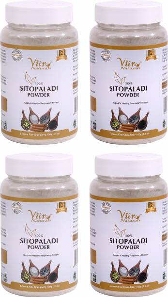 Vitro Naturals Sitopaladi Powder 100g (Pack of 4) | 100% Natural | Provides Nutrition and Energy for Digestion