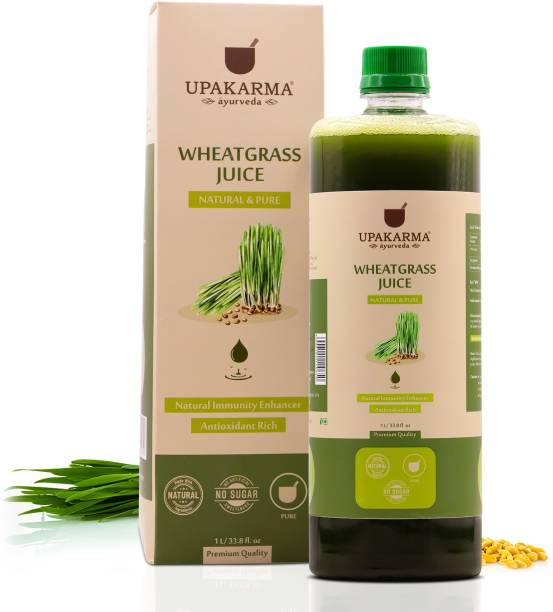 UPAKARMA Ayurveda Wheatgrass Juice Natural, Herbal, Ayurvedic Juice for Detoxification I No Added Sugar
