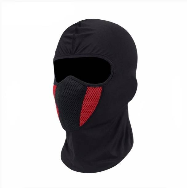 Mubco Red, Black Bike Face Mask for Men & Women