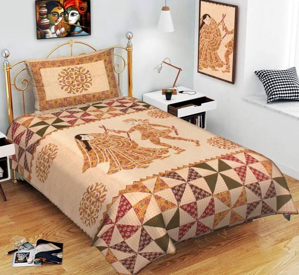 MSKS 144 TC Cotton Single Printed Bedsheet