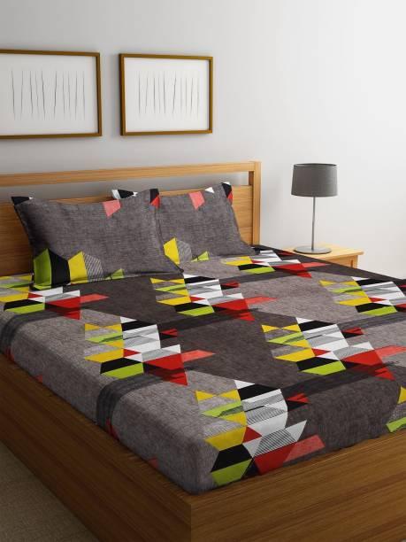 Flipkart SmartBuy 144 TC Microfiber Double Geometric Bedsheet