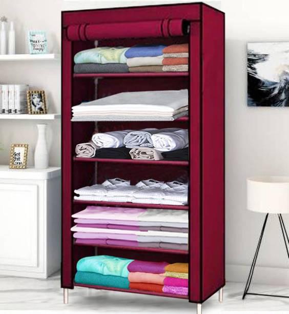Flipkart Perfect Homes Studio Single Door 6 Shelf PP Collapsible Wardrobe