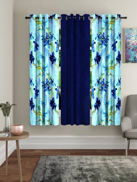 Home Sizzler 153 cm (5 ft) Polyester Window Curtain (Pack Of 3)