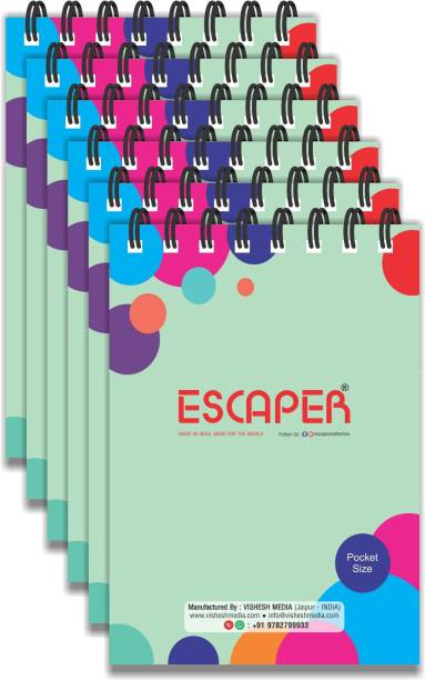 ESCAPER Pocket Pads (Pack Of 12 Pocket Notepads - Ruled - A5 Size - 4.25 x 3.00 inches), Writing Pads, Notepad Memo, Pocket Diary Pocket-size Note Pad Ruled 50 Pages