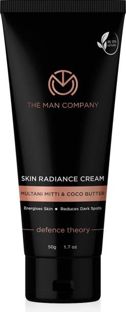 THE MAN COMPANY Skin Radiance Cream | Multani Mitti, Coco Butter, Hyaluronic Acid | Reduce Acne & Blackheads
