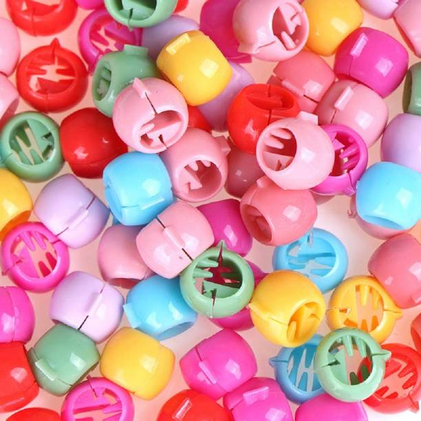 High Profile Stylish Small Round Size hair beads for Kids & Girls Women Hair pack of 60 pcs in multicolour Hair Clip