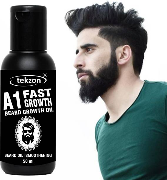 tekzon 100% Natural Beard Growth Oil- For Stimulating fast Beard Growth Hair Oil