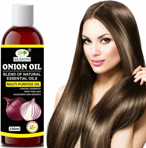 GULBADAN Onion Hair Oil for Hair Growth with Onion & Black Seed for Hair Fall Control Hair Oil