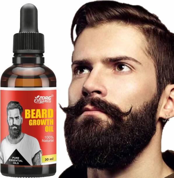 Zorg Organics Premium Natural Beard Growth Oil for Strong and Healthy Beard Growth Hair Oil