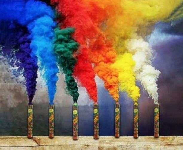 Quinergys Colorful Smoke for Pre Wedding Shoot Holi Color Powder Pack of 2