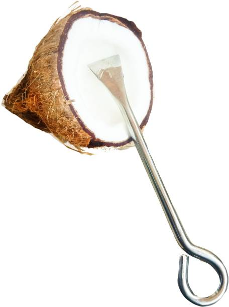 pooja hub Coconut Scrapper Steel Knife