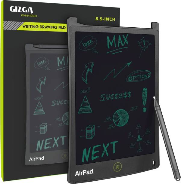 Gizga Essentials Portable AirPad Re-Writeable 21.59 cm (8.5-inch) LCD Writing Tablet Memo Pad Drawing Board Slate Notes Digital Notepad with Stylus Pen Handwriting for Kids at Home School Office