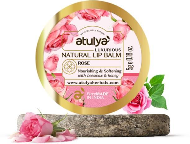 Atulya Rose Natural Lip Balm With Bees Wax and Honey Rose