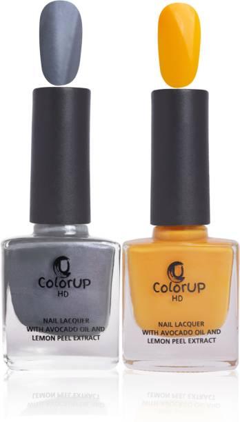 ColorUp HD Nail Polish with Avocado Oil and Lemon Peel Extract 8ml (Good Hacker, Jealous Jeans)
