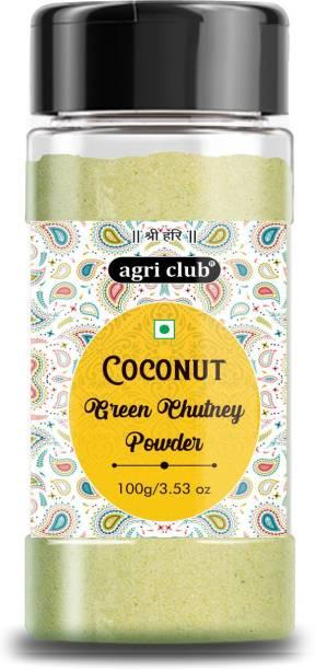 AGRI CLUB Coconut Green Chutney 200gm/7.53oz (2x100) Chutney Powder