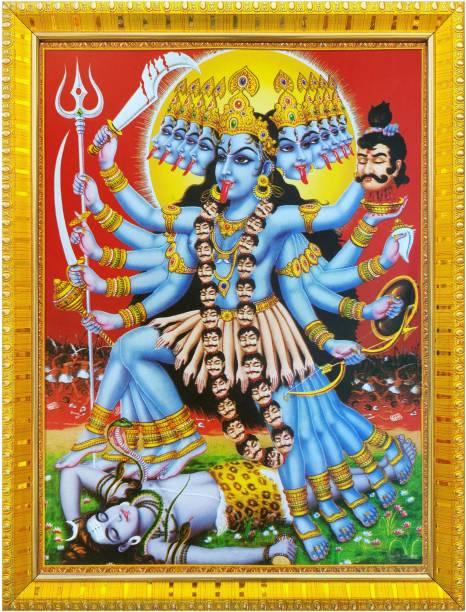 koshtak Goddess Kali Maa / mahakali standing on shiva with tongue out Religious Frame