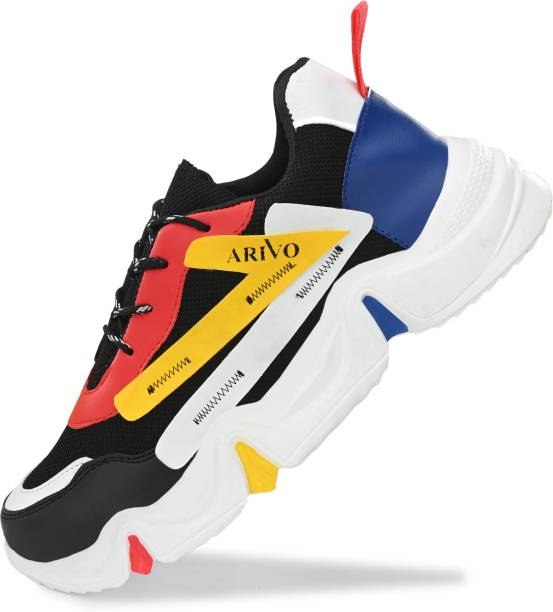 Arivo Multicolored Steps High Sole with Upper Mesh & Foam Material Footwear for Sport Activities, Running Shoes, Casual Shoes, Model Shoot Shoes Running Shoes For Men