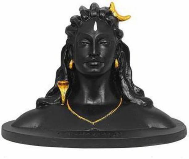 Someshwar fashion Lord Shiva in Dhyana Mudra Adiyogi Shiva Idol for Home Decor, Gift & Puja Decorative Showpiece - 16.5 cm (Polyresin, Black) Decorative Showpiece  -  17 cm