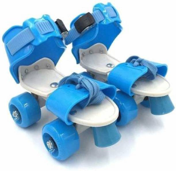 HREYANSH COLLECTION Adjustable Multi Color Quad Shoe Roller Skates for Boys and Girls, Inline Skating Shoes Suitable for Age Group 5 to 12 Years, Size 4-6 UK Quad Roller Skates - Size 4-6 UK (Blue, Red, Pink, Green) Quad Roller Skates - Size 5-12 UK UK