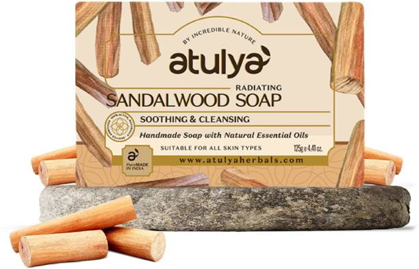 Atulya Sandal Wood - Handmade Soap With Natural Essential Oils