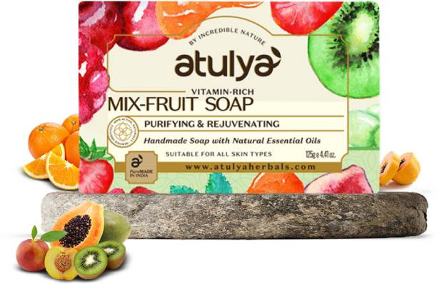 Atulya Mix Fruit - Handmade Soap With Natural Essential Oils
