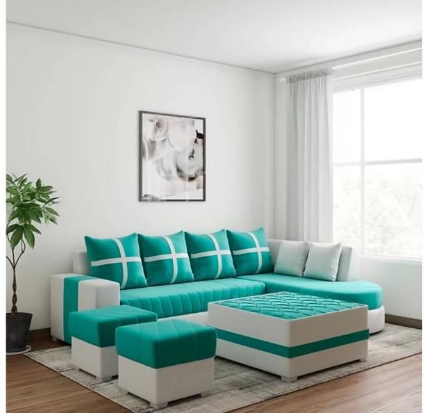 lifestyle furniture damass green Fabric 3 + 2 + 1 LIGHT AQUA Sofa Set