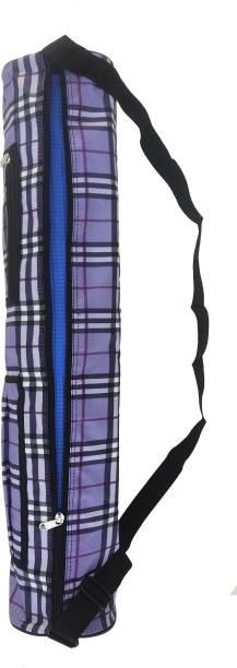 Lv Traders Check Purple Trendy Premium Quality Yoga Bag