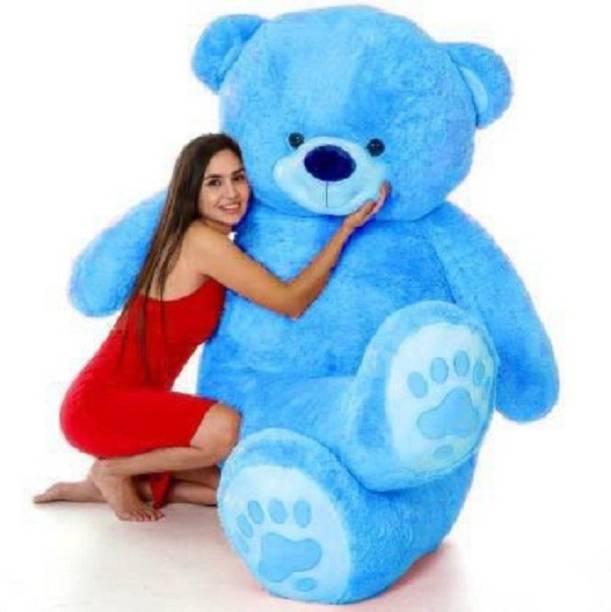 KhoLi 3 Feet Cute Blue Fur & Heart Teddy Bear  - 90 cm