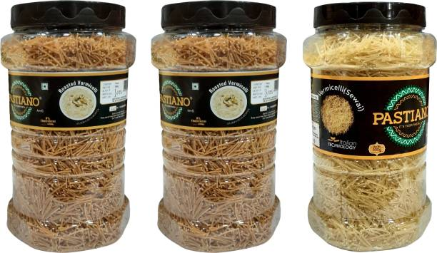 PASTIANO Roasted  &  (Sewai)- Pack of 3- 500 gms each Vermicelli 1.5 kg