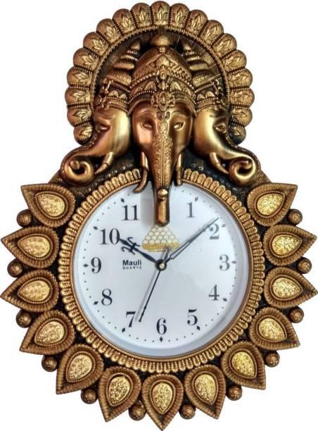 mauli Analog 33 cm X 24 cm Wall Clock