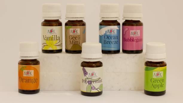 ARK Enterprises Geeli mitti, Peppermint, Orange, Bubblegum, Ocean breeze, Green apple, Vanilla Aroma Oil
