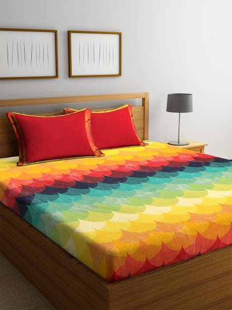 Bombay Dyeing 144 TC Cotton Double King Printed Bedsheet