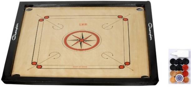 VHN Matte Finish 32 X 32 inches (Full Size) Carrom Board with Coins, Striker & Powder 50 cm Carrom Board