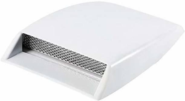 Allure Auto Bonnet Vent Car Decorative Air Flow Intake Scoop Bonnet Vent Sticker Cover Hood (White) Boonet Scoop