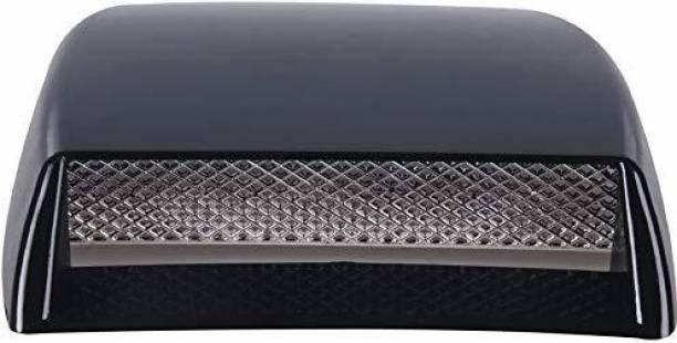 Allure Auto Bonnet Vent Car Decorative Air Flow Intake Scoop Bonnet Vent Sticker Cover Hood (Black) Boonet Scoop