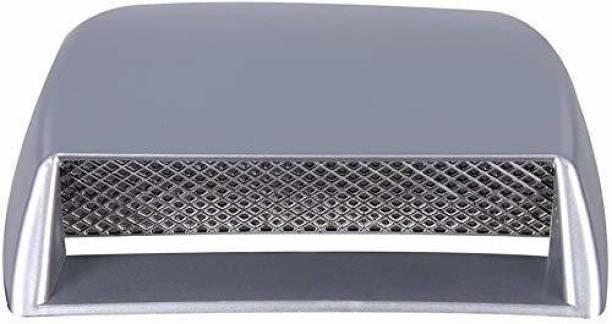 Allure Auto Bonnet Vent Car Decorative Air Flow Intake Scoop Bonnet Vent Sticker Cover Hood (Silver) Boonet Scoop