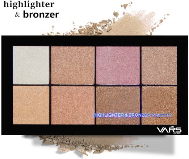 VARS LONDON highlighter bronzer combo palette|face highlighter palette|bronzer palette|contour palette|contour bronzer highlighter combo palette Highlighter