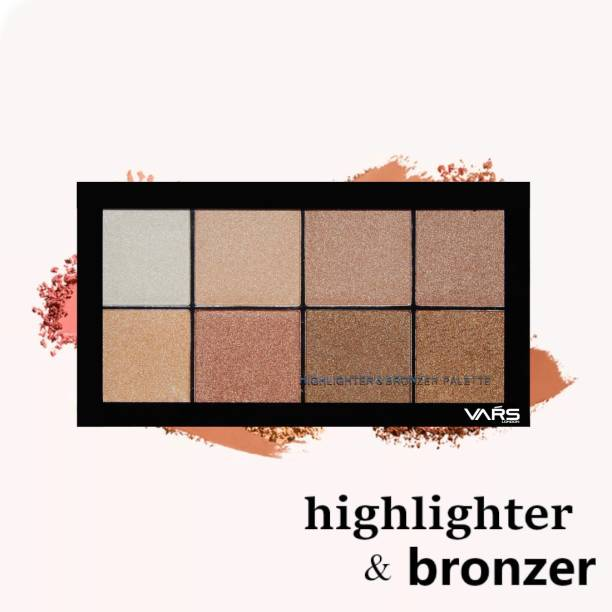 VARS LONDON mm bronzer and highlighter combo palette|face highlighter combo|bronzer combo palette|highlighter and bronzer palette|make make up palette