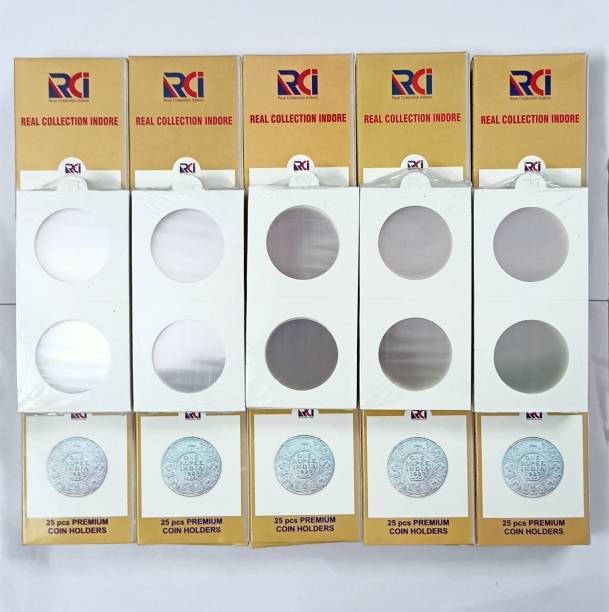 rci Coin Collecting Holders 2 x 2 - size 0 to 9 - Each size Pack 50 PCS - 500 count Coin Bank