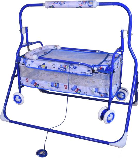 Childcraft Cradle Cot Cum Stroller With Wheels Cot
