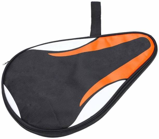 Fafeims Waterproof Table Tennis Paddle Bag Oxford Ping Pong Bat Case, Orange Racquet Carry Case/Cover Free Size