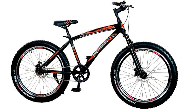 MODERN Arcadian 26T Fat Bike/Cycle with Front Suspension Dual disc Brakes 26 T Road Cycle